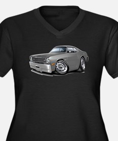 1970-74 Duster Grey Car Women's Plus Size V-Neck D