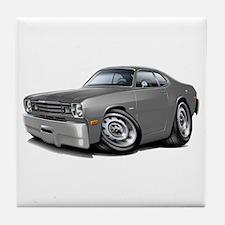 1970-74 Duster Grey Car Tile Coaster