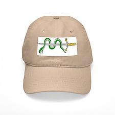 Fantasy serpent entwined sword Baseball Cap