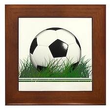 Cute Soccer ball Framed Tile