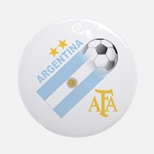 Argentina world cup soccer Ornament (Round)
