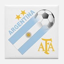 Argentina world cup soccer Tile Coaster