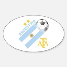 Argentina world cup soccer Oval Sticker (10 pk)