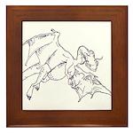 Flying Dragon Framed Tile