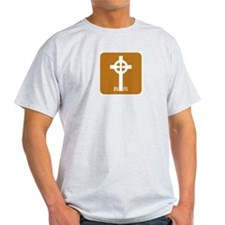Mod Celtic Cross Ash Grey T-Shirt