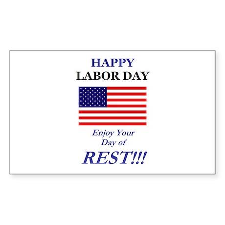 Labor Day Sticker (Rectangle)
