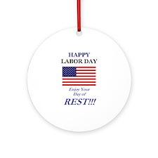 Labor Day Ornament (Round)