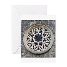 Stone Rose Window Greeting Card