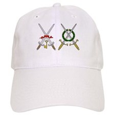 Double crossed medieval swords Baseball Cap