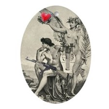 Armed Love Oval Ornament