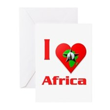 I Love Africa #2 Greeting Cards (Pk of 20)