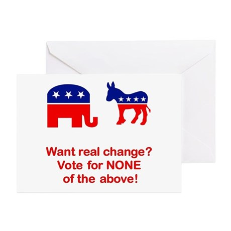 Political Greeting Cards (Pk of 20)