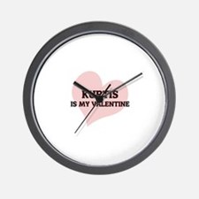 Kurtis Is My Valentine Wall Clock