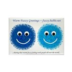 """""""Blue Fuzzies"""" Rectangle Magnet (10 pack)"""
