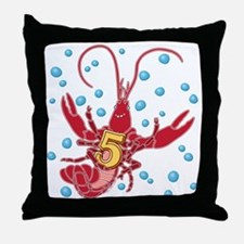 Crawfish Five Throw Pillow