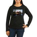 South Korea Women's Long Sleeve Dark T-Shirt
