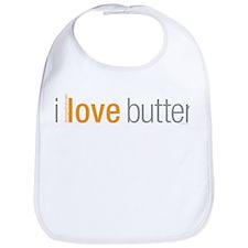 Cute I love butter Bib