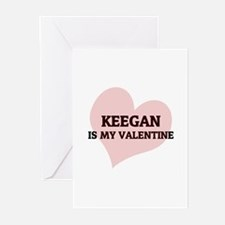 Keegan Is My Valentine Greeting Cards (Package of