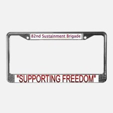 82nd Sustainment BDE License Plate Frame
