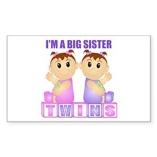I'm A Big Sister (PGG:blk) Rectangle Decal