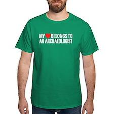 My Heart Belongs To An Archaeologist T-Shirt