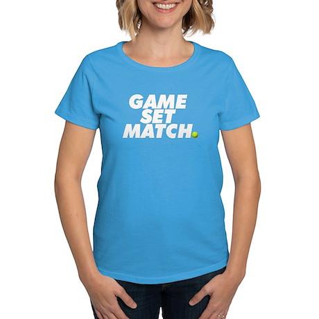 game set match Women's Dark T-Shirt