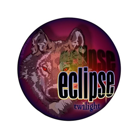 """Eclipse Wolf Shadow by twibaby 3.5"""" Button"""
