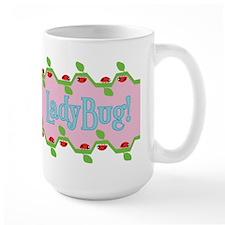 Ladybug Pink Background Mug