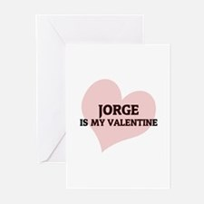 Jorge Is My Valentine Greeting Cards (Pk of 10