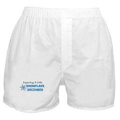 Little Snowflake December Boxer Shorts