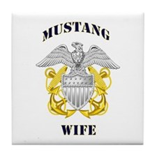 Blue Mustang Wife Tile Coaster