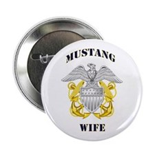 """Blue Mustang Wife 2.25"""" Button"""