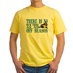 No Off Season Snowmobiling Yellow T-Shirt