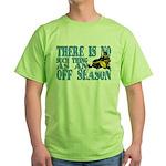 No Off Season Snowmobiling Green T-Shirt
