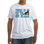 No Off Season Snowmobiling Fitted T-Shirt