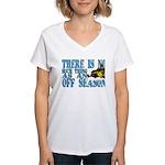 No Off Season Snowmobiling Women's V-Neck T-Shirt