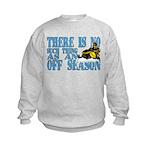 No Off Season Snowmobiling Kids Sweatshirt