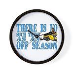 No Off Season Snowmobiling Wall Clock