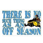 No Off Season Snowmobiling Postcards (Package of 8