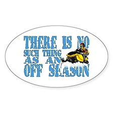 No Off Season Snowmobiling Decal