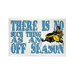 No Off Season Snowmobiling Rectangle Magnet