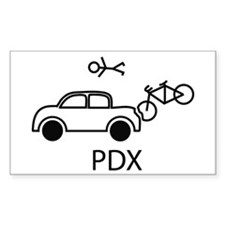 Cute Oregon bike Decal