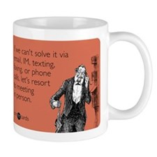 Meeting In Person Mug