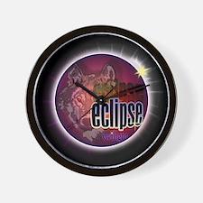 Eclipse Wolf Shadow by twibab Wall Clock