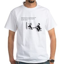 Appearing Busy White T-Shirt