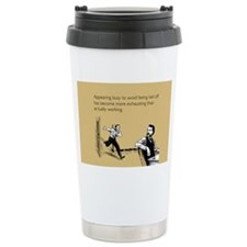 Appearing Busy Stainless Steel Travel Mug