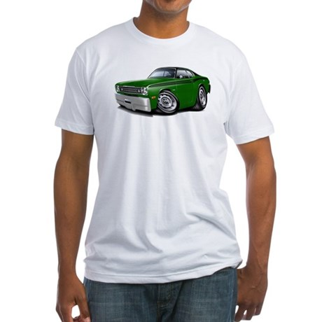 Duster Green-Black Top Car Fitted T-Shirt