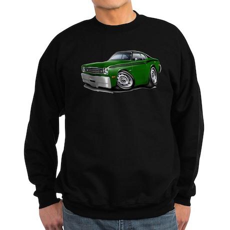 Duster Green-Black Top Car Sweatshirt (dark)