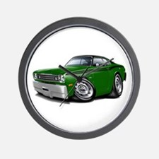 Duster Green-Black Top Car Wall Clock