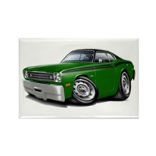 Duster Green-Black Top Car Rectangle Magnet